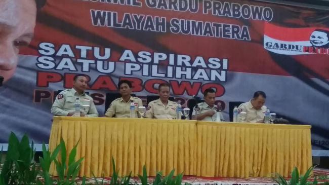 Rakowil Gardu Prabowo Se- Sumatra Siap Menangkan Prabowo Pilpres 2019