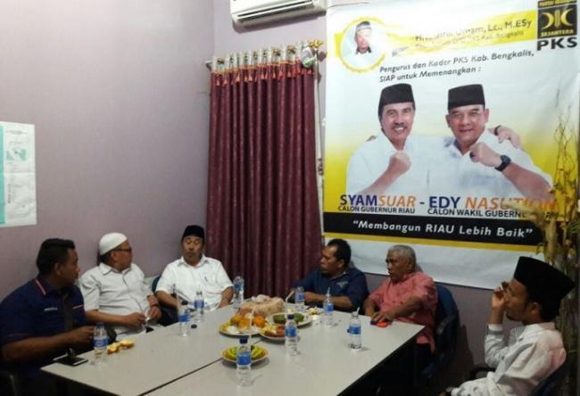 Syamsuar Sambangi Partai Pendukungnya di Kab. Bengkalis