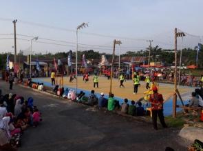 Puluhan Tim Semarakkan Turnamen Volly Ball Piala Kapolsek XIII Koto Kampar