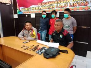 Polisi Bekuk Tiga Gembong Curanmor yang Selalu Meresahkan Masyarakat