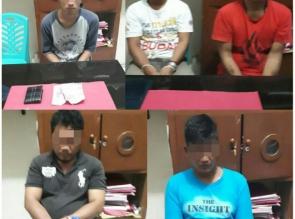 Resnarkoba Polres Kampar Gulung 5 Anggota Jaringan Narkoba di Wilayah Tapung