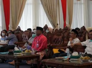 Sekda Kampar Laporkan Kondisi Terkini terkait Covid-19 ke Sekda Riau