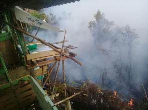 Lahan Di Puncak Wisata Ulukasok Terbakar