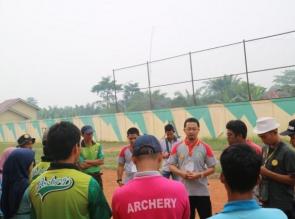 Kampar Masih berjuang, Syahrul Aidi semangati Atlet Panahan Kejurda INHU 2018