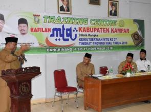 56 orang Ikuti Training Center MTQ Provinsi Riau ke 37 Tahun 2018.