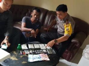 Bandar Narkoba Beserta 1/2 Kg Lebih Shabu Ditangkap Polsek Tapung Hilir