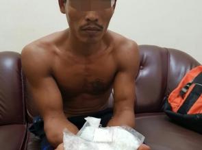 Polsek Tapung Hilir Tangkap Gembong Narkoba Bersama 166 Gram Shabu