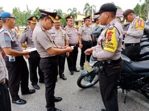 Kapolres Kampar Distribusikan 28 Motor Dinas untuk Bhabinkamtibmas