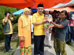 Pembangunan di Masa Andi Rachman Tidak Mengecewakan, 1.500 KK Warga Pelalawan Pilih Nomor 4
