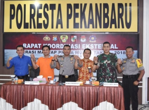 Polresta Pekanbaru Gelar Rapat Koordinasi Lintas Sektoral
