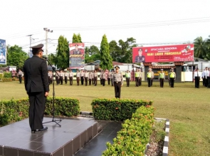 Polres Kampar Gelar Upacara Bendera memperingati Hari Lahir Pancasila