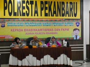 Polresta Pekanbaru Laksanakan Sosialisasi Antisipasi Wabah Virus Difteri.