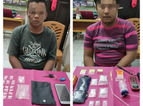 Puluhan Paket Shabu ditemukan Petugas saat Tangkap 2 Pelaku Narkoba di Kampar