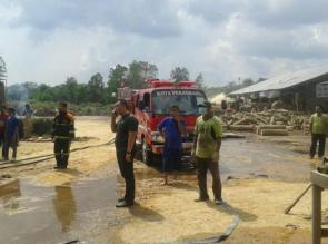 Polisi Masih Selidiki Penyebab Kebakaran di PT. Rubber Wood Industries Indo Siak Hulu