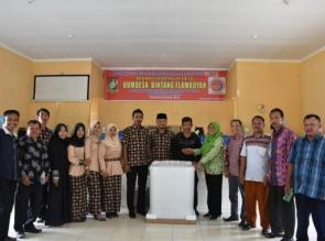 Perdana di Kampar kedua di Riau Tahun 2019 BUMDES bagikan hasil usaha
