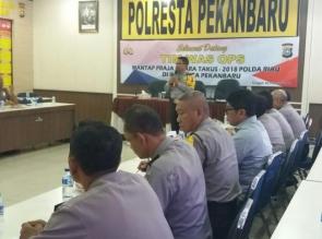 Polresta Pekanbaru Adakan Rapat AwalPemilihan Polisi Teladan.