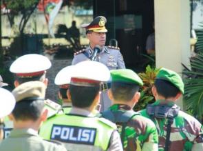 Polresta Pekanbaru Gelar Apel Pergeseran Pasukan untuk Pengamanan Natal dan Tahun Baru 2018