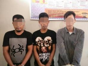 Polres Kampar Ringkus 3 Pelaku Narkoba