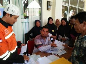 BAZNAS Kampar Distribusikan Zakat Komsumtif Untuk 4 Kecamatan