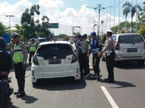 Polresta Pekanbaru Tilang 212 Pelanggar Lalu Lintas