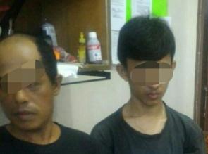 2 Pelaku Narkoba Ayah dan Anak Warga Salo Baru Ganting Diciduk Resnarkoba Polres Kampar