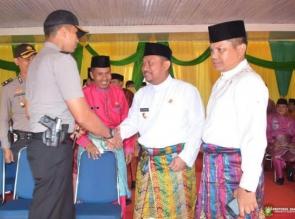 Upacara HUT Provinsi Riau Ke-61 di Kabupaten Kampar berlangsung Khidmat