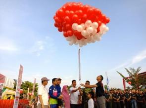 Polres Kampar Gelar Olahraga Bersama dan Bazar Jelang Hari Bhayangkara ke-73