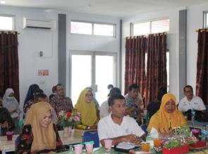Laporkan Covid-19 di Diskes Kampar dan RSUD Teleconference dengan Diskes Provinsi Riau.