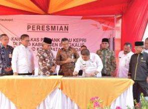Bupati Bengkalis Resmikan Dua Kantor Kas Bank Riau Kepri