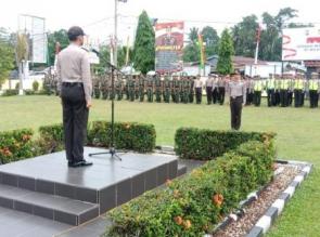 Polres Kampar Apel Konsolidasi Ops Mantap Praja Muara Takus 2018