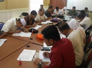 Peserta Seleksi Calon Anggota Bawaslu Riau ikuti Pemeriksaan Kesehatan.