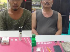2 Orang Pengedar Shabu Diringkus Resnarkoba Polres Kampar di 2 TKP