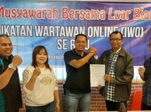 Ketua IWO Riau Baru Kavillah Terpilih Secara Aklamasi