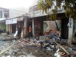 3 Rumah dan 1 Ruko Hangus Terbakar Di Kampar