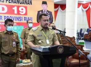 Catur Sugeng Instruksikan Desa se Kabupaten Kampar Bentuk Relawan Covid-19