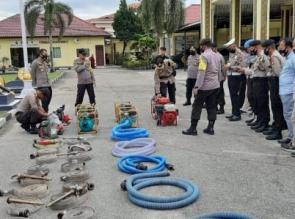 Antisipasi Karhutla, Polres Kampar Gelar Sejumlah Peralatan dan Kesiapsiagaan Personel
