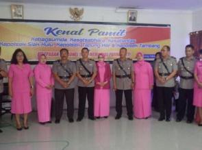 Kapolres Kampar Hadiri Acara Kenal Pamit Pejabat yang Sertijab dan Pelepasan Personel Purna Bakti