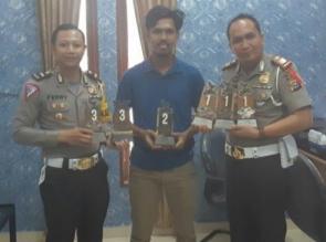 Tim Stuntride Satlantas Kampar Raih Juara Umum di Kejurnas Seri Perdana SMB di Palembang