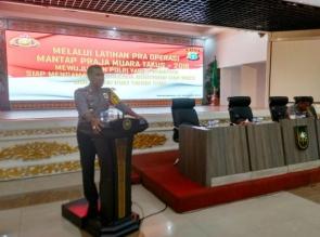 Polresta Pekanbaru Melaksanakan Lat Pra Ops Mantap Praja Muara Takus 2018