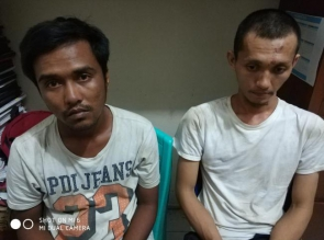 Dua Pelaku Bandar Narkoba di Ringkus di Pondok Kebun Sawit