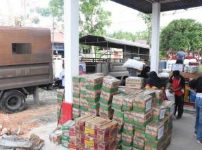 Kampar Kirim 4 Truk Bantuan ke Palu, Donggala dan sigi
