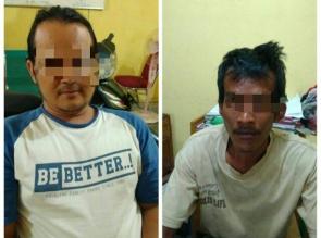 Polsek Bangkinang Barat Tengkap 2 orang Penyalahgunaan Narkoba di Desa Kuok