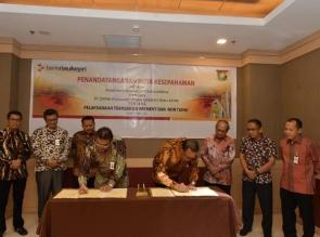 Pemkab Kampar Percayakan Pelaksanaan Transaksi Non Tunai Kepada Bank Riau Kepri
