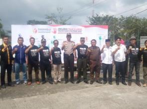 Deklarasi Tolak Politik Uang dan Politisasi Sara di Taman Kota Bangkinang