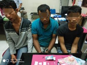 Resnarkoba Polres Kampar Ciduk 3 Pria Saat Pesta Narkoba dilokasi Kandang Ayam