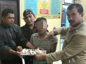Warga Balam Jaya ini Ditangkap Polsek Tambang Saat Akan Transaksi Narkoba