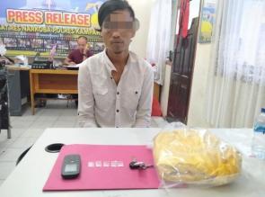 Sembunyikan 4 Paket Sabu Dalam Jok Motornya, Warga Sipungguk ini Ditangkap Polisi