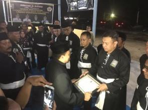 Gubernur Riau, Bupati Kampar, Dandim dan Kapolres Kampar dinobatkan Sebagai Warga Kehormatan PSHT