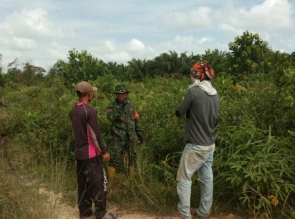 Babinsa Koramil 07/kampar Giat Laksanakan Patroli dan Sosialisasi Pencegahan Karhutla