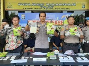4,5 Kg Shabu dan 929 Butir Pil Extacy dan Lima Bandar Narkoba Dibekuk Polres Kampar
